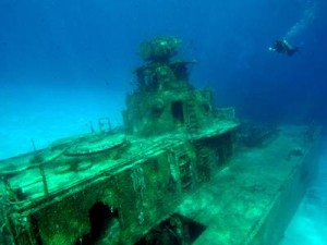 Diver On Russian Wreck Tibbet's