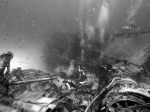 Divers Exploring Wreck of the Tibbett's