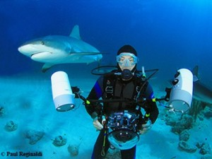 Paul with Shark